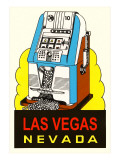 Slot Machine Graphic, Las Vegas, Nevada Posters