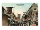 View of the Bowery, Coney Island, New York City Prints