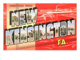 Greetings from New Kensington, Pennsylvania Poster