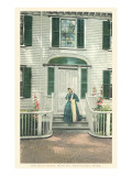 Macy Door, Main Street, Nantucket, Massachusetts Print