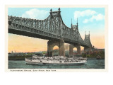 Queensborough Bridge, East River, New York City Print