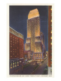 Night, Carew Tower, Cincinnati, Ohio Posters