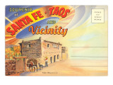 Postcard Folder, Santa Fe, Taos, New Mexico Print