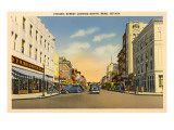 Virginia Street, Reno, Nevada Print