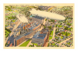 Goodyear Blimp and Factory, Akron, Ohio Posters