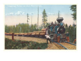 Logging Train in the Northwest Print