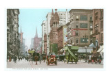Vintage 5th Avenue and 42nd Street, New York City Poster