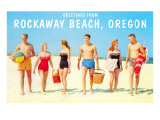 Greetings from Rockaway Beach, Oregon Prints