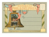 Postcard Folder, Historical Philadelphia Print