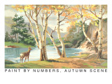 Paint by Numbers, Autumn Scene Prints