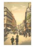 Vintage Parisian Street Scene Prints