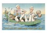 Cartoon, Sailors with Mermaid Picture Posters