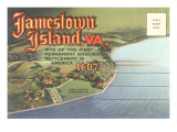 Postcard Folder of Jamestown, Virginia Art