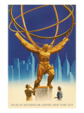 Atlas Statue, Rockefeller Center, New York City Art