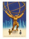 Atlas Statue, Rockefeller Center, New York City Art