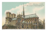 Apse of Notre Dame, Paris Posters