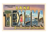 Greetings from Lake Texoma, Oklahoma Prints