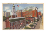 Congress and Independence Hall, Philadelphia, Pennsylvania Print