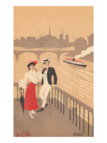 Couple on the Seine, Graphics Prints