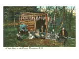 Hunters in the Catskill Mountains, New York Prints
