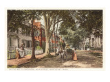 Early Main Street, Nantucket, Massachusetts Prints