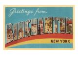 Greetings from Binghampton, New York Posters