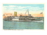 Steamer on the Hudson River, New York Prints