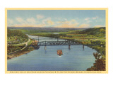 Bridges over Ohio River, Steubenville, Ohio Prints