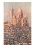 Sacre Coeur Basilica, Paris, France Prints