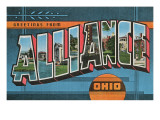 Greetings from Alliance, Ohio Print