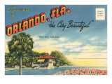 Postcard Folder, Souvenir of Orlando, Florida Posters