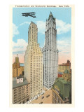Transportation and Woolworth Buildings, New York City Print