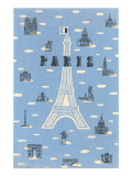 Eiffel Tower and Various Paris Motifs Art
