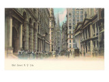 Colorized Wall Street Scene, New York City Prints