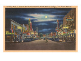 Fremont Street at Night, Las Vegas, Nevada Print