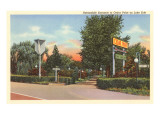 Entrance to Cedar Point, Lake Erie, Ohio Posters