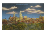 Skyline at Dusk, Tulsa, Oklahoma Poster