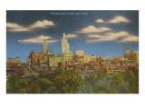 Skyline at Dusk, Tulsa, Oklahoma Print