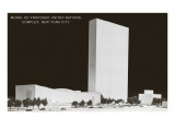 Model of United Nations Complex,  New York City Poster