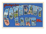 Greetings from Conneaut Lake, Pennsylvania Prints