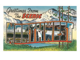 Greetings from the Scenic Northwest Poster