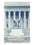 Library, Statue, Columbia University, New York City Posters