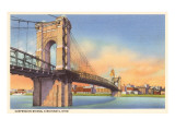Suspension Bridge, Cincinnati, Ohio Prints