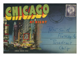 Postcard Folder, Chicago at Night Prints
