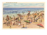 Beach Scene, Lake Erie, Ohio Posters