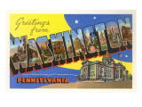 Greetings from Washington, Pennsylvania Posters