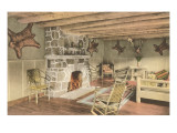 Cabin with Animal Trophies Poster