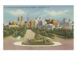 Skyline, Philadelphia, Pennsylvania Poster