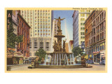Fountain Square, Cincinnati, Ohio Poster