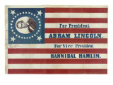 Campaign Flag for Lincoln and Hamlin Poster